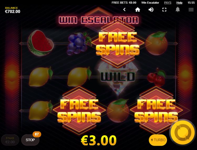 Win Escalator slot Red Tiger review free spins trigger