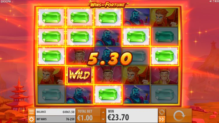 Wins of Fortune slot quickspin super respin