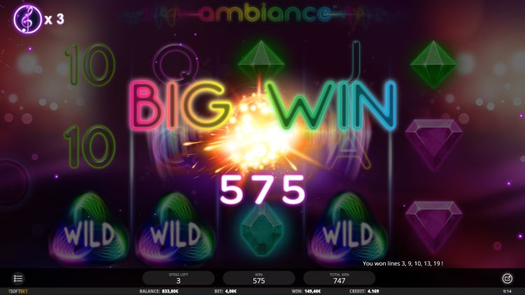 ambiance-slot isoftbet review free spins win