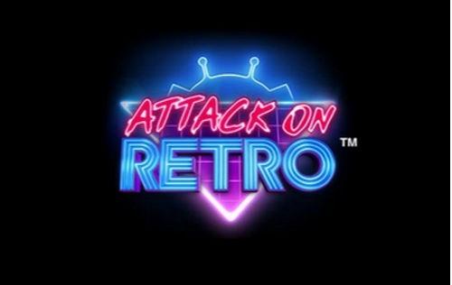 attack on retro slot logo