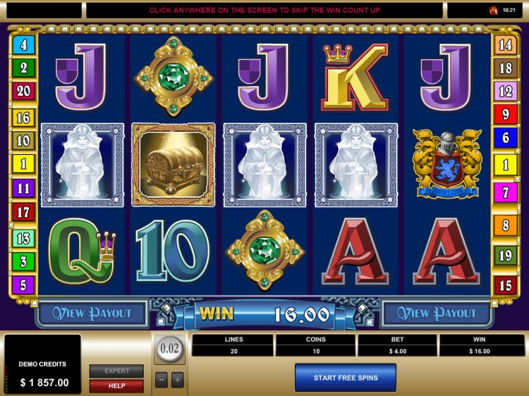 avalon slot review microgaming free spins trigger