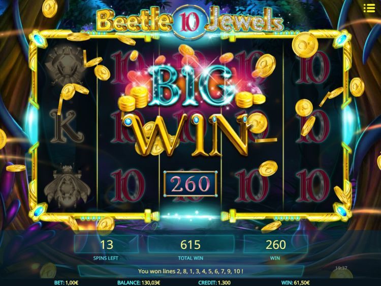 beetle-jewels isoftbet bonus win