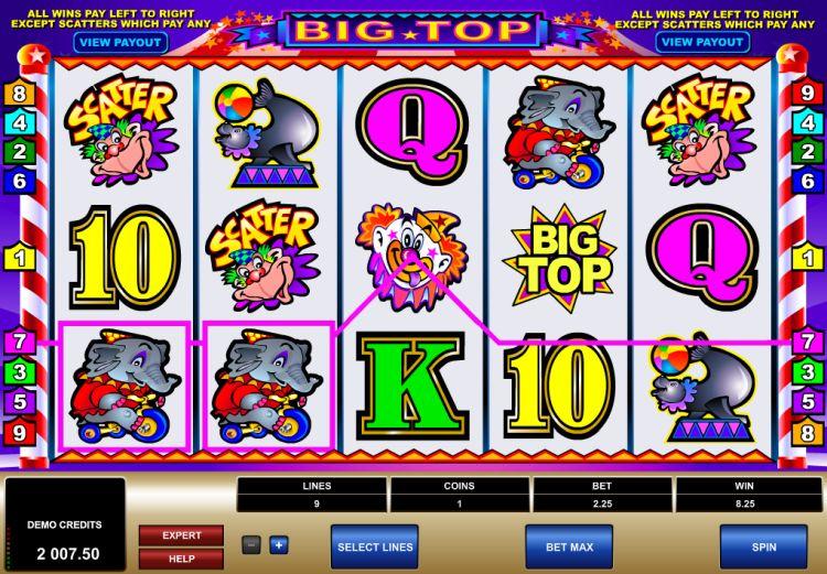 big top slot review Microgaming