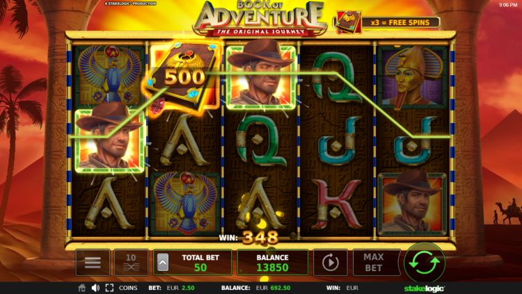 book-of-adventure slot review stakelogic