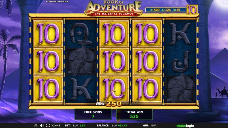 book-of-adventure-slot review stakelogic bonus win