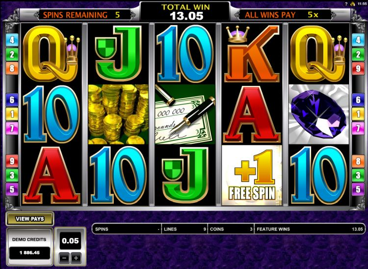 break da bank again slot free spins
