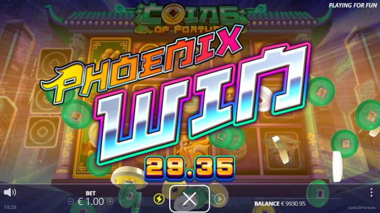 coins of fortune slot review feature big win