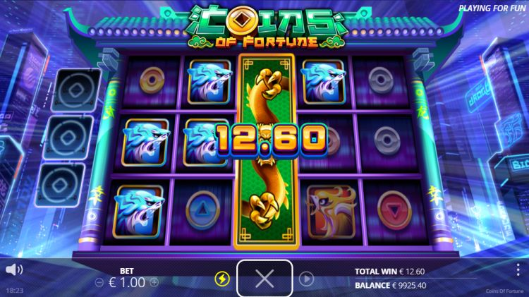 coins of fortune slot review feature win