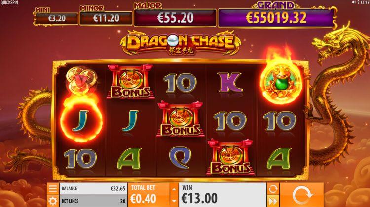 dragon-chase-quickspin slot free spins trigger