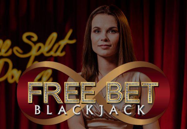 free-bet-blackjack evolution gaming logo