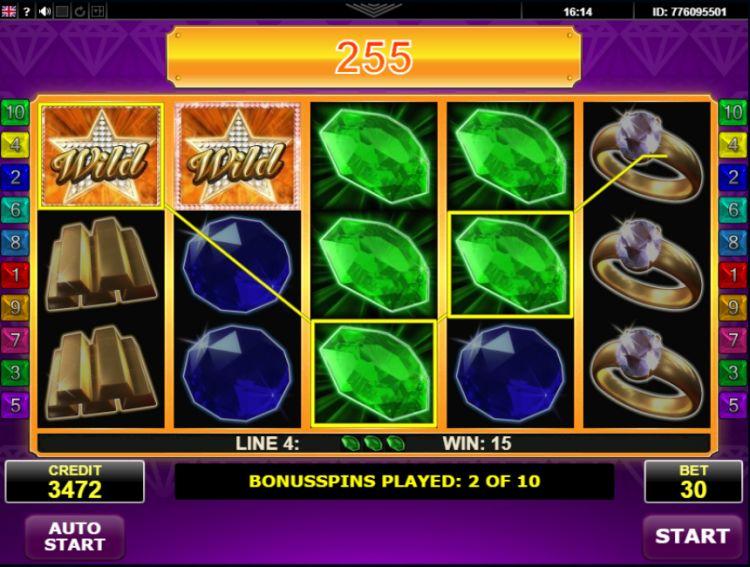 hot-diamonds amatic review bonus win