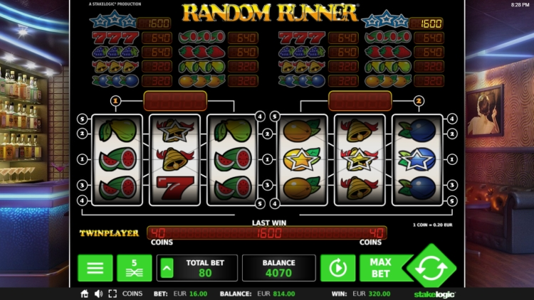 random runner slot review big win 2