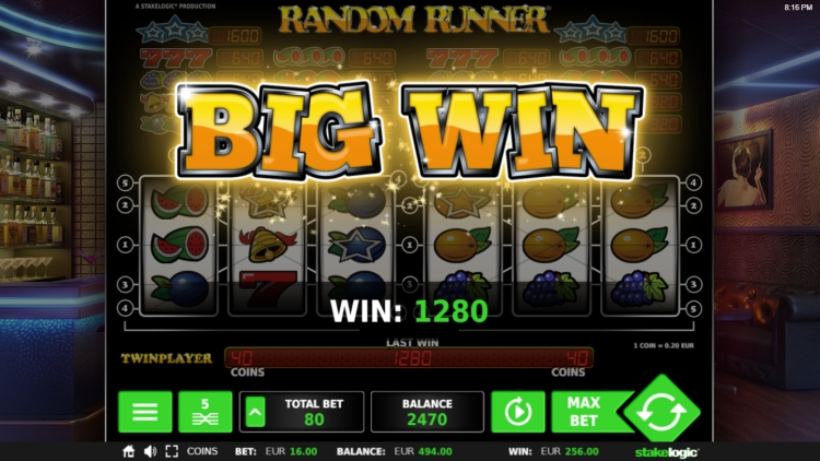random runner slot review big win