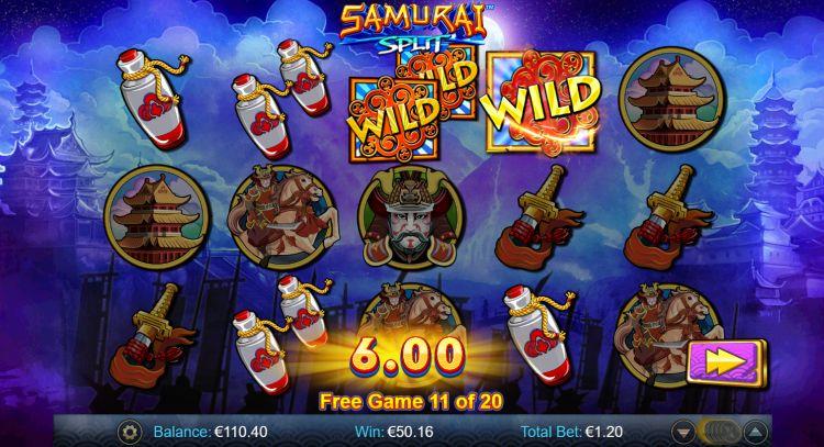 samurai-split-slot review win bonus