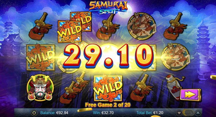 samurai-split-slot review win