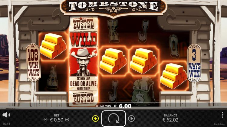tombstone slot review no limit city win