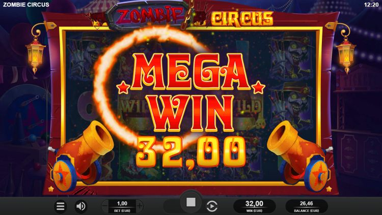 zombie-circus slot big win