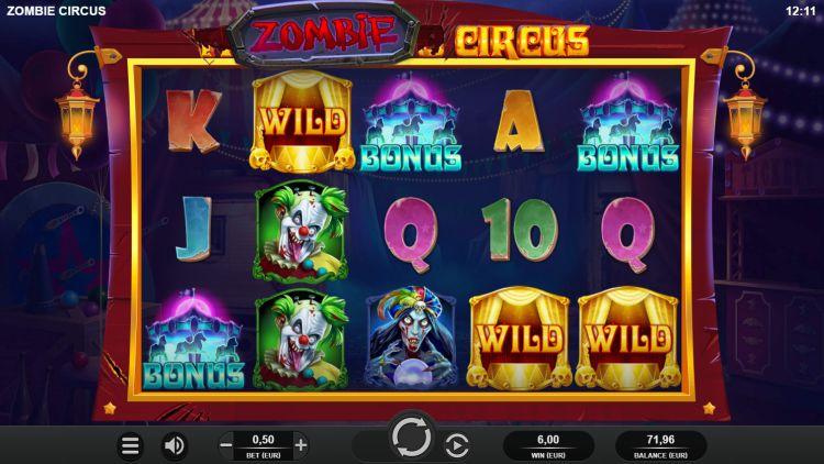 zombie-circus-relax gaming review bonus trigger