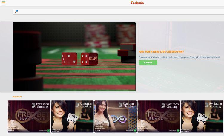 Cashmio casino review live casino