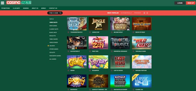 Casino-Mate-review-game-selection