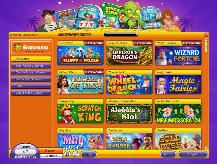 Gratorama-casino-game-selection