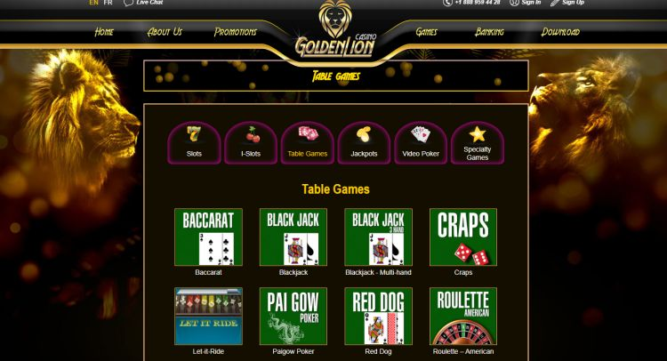 golden-lion-casino-review-game-selection