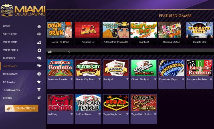 miami-club-casino-review-game-selection