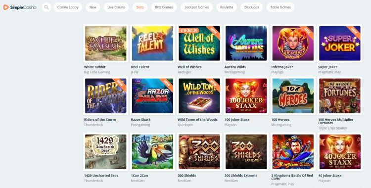 simple-casino-review-game selection